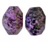 Semi-Precious 15x20mm Facetted Green Spot Jade Coated Purple